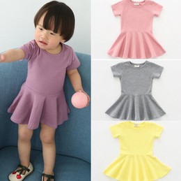 67325d5da1e8 baby girl clothes Solid dress children Candy colors Lotus leaf side princess  dresses summer 2018 new Boutique kids Clothes 7 colors discount cotton candy  ...