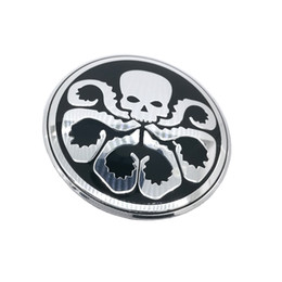 Wholesale Bmw Tire Caps - Hydra Octopus skull Car Steering tire Wheel Center car sticker Hub Cap Emblem Badge Decals Symbol For VW Jaguar Audi BMW Nissan