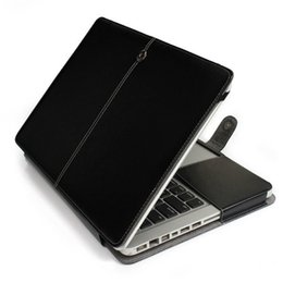 "Wholesale Macbook 11 Case - High Quality PU Leather Laptop Folio Book Wallet Cover Case For Apple Macbook Air Pro 11'' 12'' 13"" 15"""