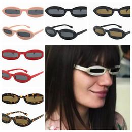 Wholesale Funny Spoof - women rectangle Sunglasses spoof funny classics Cool Small Frame fashion Retro Eyewear Sunglasses 6 color LJJK984