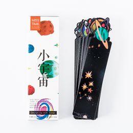 galaxia del libro Rebajas 30 unids The little galaxy bookmarks Starry star Space book bookmark regalo para niños Papelería Oficina Material escolar marcapaginas A6960