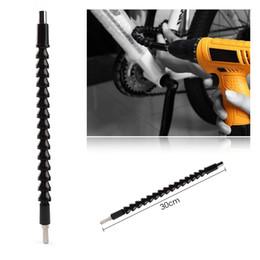 Wholesale Drill Flexible - 6.35mm 1 4 295mm Electronics Drill Black Flexible Shaft Bits Extention Screwdriver Bit Holder Connect Link For car Computer Case Furniture