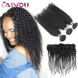 Wholesale curly remy hair styles - Hot Mongolian Kinky Curly Closure with Virgin Hair Bundles Wholesale Kinky Curly Human Hair Styles Remy Human Hair Extensions Unprocessed