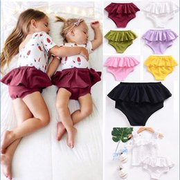 Wholesale Purple Bloomers - Fashion INS Bottom Shorts Toddler Baby Girl PP Pants Diaper Pants Dress Baby Girl Bloomers Skirts Summer KA612