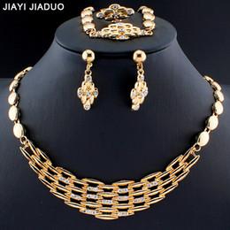 Brautschmuck Sets Gerade Jiayijiaduo Silber/gold Farbe Halskette Ohrringe Schmuck-set Für Frauen Kleidung Zubehör Mode Schmuck & Zubehör