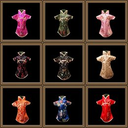 Wholesale Wine Bottles Gifts Covers - Wine Bottle Cover Dust Bag Chinese Silk Brocade Red Wines Packaging Pouch Wedding Decoration Multi Color 4jl C R