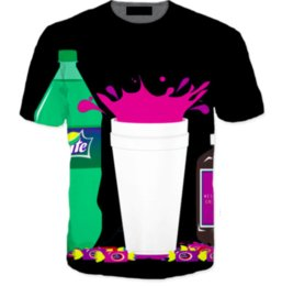 Wholesale purple drank - 2018 New Fashion T-shirt Men Women 3d T shirt Print Double Cups Purple Drank Funny Casual T-Shirts
