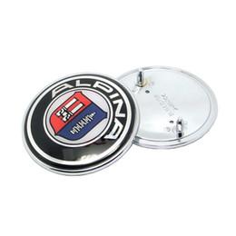 Car Styling Pour alpina 82mm 74mm Capot De Voiture Emblème Cap / Arrière Coffre Emblème Couverture Auto Tail Boot Logo / Front Bonnet Badge ? partir de fabricateur