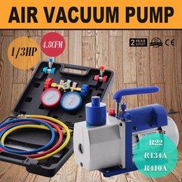 Wholesale High Pressure Vacuum Pump - 4.8CFM 1 3HP Pump Vuoto Monostadio Pompa Per Il Vuoto Monostadio Con 3 Valve Per R410A R134A R22 A C