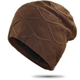 NUEVO Grueso para hombre Skullies de punto Gorros con Velvet Hip Hop Solid Doule Capas Sombrero de invierno para mujeres Slouchy Baggy Skullies desde fabricantes