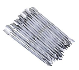 Wholesale Spoon Nail - 2 in 1 Nail Art tools Stainless Steel Essential Cuticle 2 Way Spoon Pusher Manicure Cuticle Pushers 500pcs