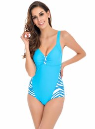 Wholesale Womens Plus Size Bathing Suits - Summer womens One Piece Swimsuits Plus Size Swimwear Women Bathing Suit High Waist Swimsuit Monokini Push Up Backless 5XL