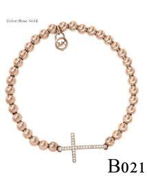 Bracelets élastiques en diamant d'halloween en Ligne-Bracelet extensible en forme de croix avec perles et diamants Bracelet en grosB021 / 22