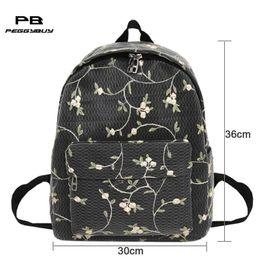d2242df072d3 knapsacks fashion Australia - Women Girls Canvas Backpacks Shoulder School  Bookbags Teenager Fashion Embroidery Rucksacks Tote