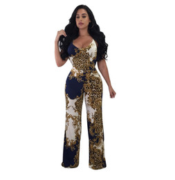 f6e97ad775a summer long beach pants women Coupons - Leopard Printed Summer Beach Rompers  Backless Women Jumpsuits Tight
