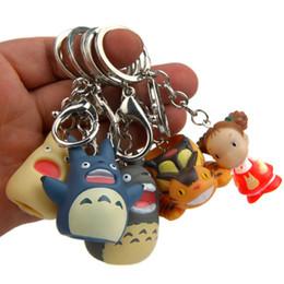 Totoro saco infantil on-line-Moda Bonito Meu Vizinho Totoro PVC Chaveiro Mulheres Dos Desenhos Animados Hayao Comic Fãs Encantos Keyring Titular Presentes Da Criança Saco de Jóias