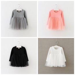 Wholesale casual full length gowns - Kids New Princess Dress 2017 Casual Kids Dresses For Girls Ball Gown Toddler Girl Clothing Children Clothes