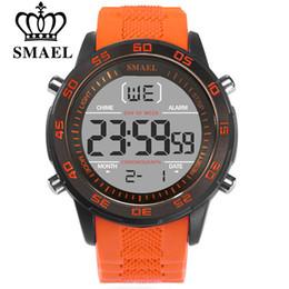 цифровой ремень Скидка SMAEL мода спортивные часы мужчины силиконовый ремешок Марка цифровые часы Noctilucous водонепроницаемый роскошные часы мужские Relogios Masculinos