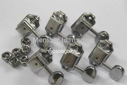 Botão peg on-line-3L3R Estilo Retro Chrome Guitar String Tuning Pegs / chaves, Guitar Tuners Machine Heads botões para para ST Guitarra Elétrica partes