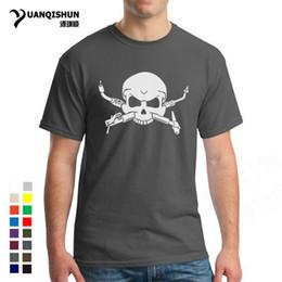 e112e8c6 Funny Welders Skull Tshirts 2018 Summer Hot Sell Interesting Skulls Head T- shirt Top Quality 100% Cotton 16 Colors Mens T Shirt