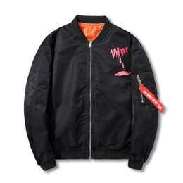 Wholesale United Forces - Men's Jacket Europe and The United States Tide brand anti- War Theme Printing Coat Air Force Pilots Jacket Male Thin Couple Lovers Baseball