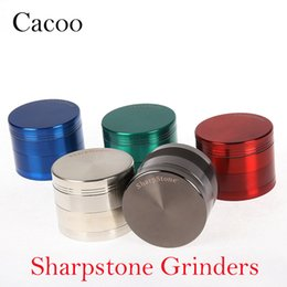 Wholesale grinder tabacco - Sharpstone Grinders 4 Pieces Tabacco Herb Grinder 40mm 50mm 55mm 63mm 75mm Grinders Zinc Alloy Magnet Top Shovel 6 Colors OEM Available