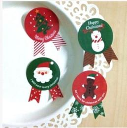 Lenzuola di natale online-Serie di temi di Natale vintage Distintivo di design 8 pezzi / foglio Etichetta multifunzione adesiva di tenuta adesiva regalo etichetta fai da te