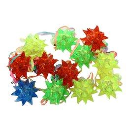 Wholesale Led Light Up Necklace - Flashing Star LED Light Ball Pendant Prism Light Up Necklace Party Raving