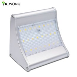 Wholesale Microwave Sensors - 24 48 LEDs Solar Light Microwave Radar Motion Sensor Super Bright Lights With Four Modes Lamp For Ourdoor Garden Wall Patio