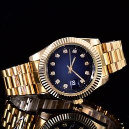 Wholesale Green Glass Bracelet - Luxury Brand mens watch 2018 male clock Calendar aaa watches stainless steel gold Bracelet wristwatch women watches relogios masculinos