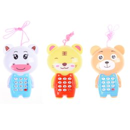 Wholesale toy phones for babies - 1PCS Baby Cute Cartoon Music Phone Toys Educational Learning Toy Phone Gift for Kids Children's Toys Random Color