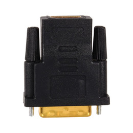 Cables de proyector para pc online-Cables de audio VBESTLIFE chapados en oro DVI 24 + 1 a HDMI Convertir convertidores de adaptador hembra a macho para PC HDTV Proyector de TV PS3
