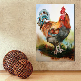 Wholesale Spray Cock - Home Decor Oil Painting Wall Pictures For Living Room Big Cock Paintings On Canvas No Frame