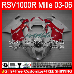 Wholesale r 35 - Body For Aprilia Red white RSV1000RR Mille RSV1000R 03 04 05 06 76HM.35 RSV 1000 R RSV 1000R RSV1000 R 2003 2004 2005 2006 Fairing kit