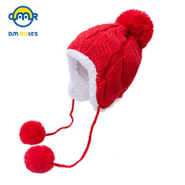 Шапочка для мальчика шапка рождественский подарок онлайн-DMROLES 2018 Winter Hat Baby Warm Hats For Boys Girls Baby Beanies Thick Christmas Gift Children Cap Newyear Boys Hat