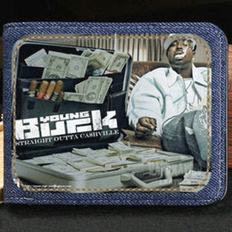 Wholesale Buck Pocket - Young Buck wallet Hip Hop cool purse Rap star short cash note case Money notecase Leather burse bag Card holders