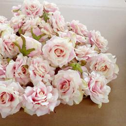 Wholesale Gift Baskets Flowers - 10PCS Artificial Flowers Head 10 cm For Wedding Decoration DIY Wreath Gift Box Floral Silk Party Design Flowers