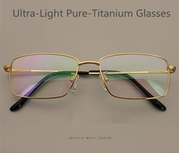 bf5bdbe8232 NEW lightweight AAA+ Pure-Titanium Gold frame male Big-rim 56-16 glasses IP  Plating 100%Pure-Titanium full-frame for prescription 8323 glass