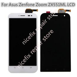taccuino blu Sconti Per Asus Zenfone Zoom ZX551ML Display LCD Matrix + Touch Screen Digitizer Assemblaggio Completo Per ZX 551 ML Nero / Bianco