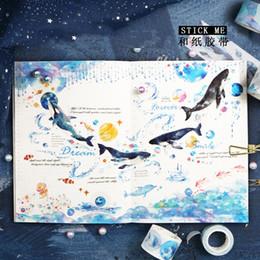 Okyanus Fairytale Hayvan Yıldızlı Gökyüzü Washi Bant Diy Dekorasyon Scrapbooking Için Maskeleme Bant Yapıştırıcı Kawaii Kırtasiye 2016 cheap animal tape nereden hayvan bandı tedarikçiler