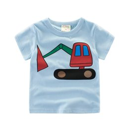 Wholesale t shirt cars baby - 27kids 2018 New Summer Baby Boy T-shirt Kids Boys Short Sleeve T-shirts Car Boy Tees Rooter 2-10 Years Children Clothing