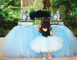 Wholesale textile skirt - Home Textiles new Wedding Party Tulle Tutu Table Skirt Birthday Baby Shower Wedding Table Decorations Diy Craft Supplies