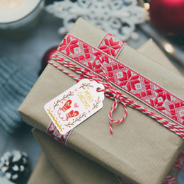 50pcs diy kraft paper christmas tag wish card merry christmas gift tags label for gift wrapping xmas new year party decor