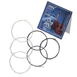 Белая нейлоновая нить онлайн-6шт гитарные струны черный белый нейлон волокна классическая гитара замена 6 строк набор профессиональный музыкальный инструмент набор