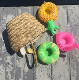 Party obsthalter online-Obst modellierung Becherhalter Trinken Float Wasser spielzeug Liefert Party Getränke Boote Telefon Ständer Halter Pool Spielzeug.