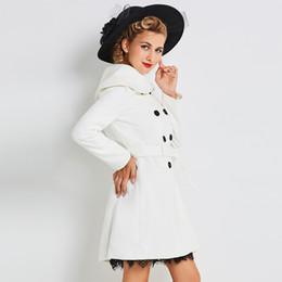 Canada Sisjuly femmes 2017 manteaux hiver manches longues slim blanc ceintures bouton de laine se mélange élégante mode causale femme nouveaux manteaux cheap elegant white winter coat fashion Offre
