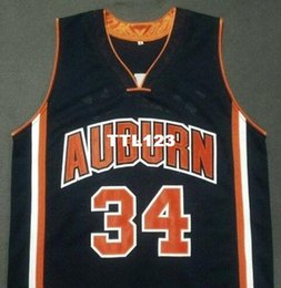 9e4c4480eaa Men  34 CHARLES BARKLEY Auburn Tigers Navy Blue White College Vintage jersey  Size S-4XL or custom any name or number jersey