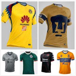 Wholesale Mx Brown - Tijuana 2017 2018 LIGA MX Club America soccer Jerseys New home away Third Yellow 17 18 Monterrey Camisetas football Tigres UANL UNAM Chivas