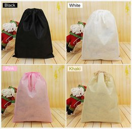 Wholesale Clothes For Travel - 7x8cm Non woven clothes Storage Dust bag Packaging for handbag Travel Sundries storage Pull rope Free shipp
