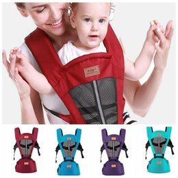 Wholesale Backpack Stool - Baby breathable Wrap Carriers Waist Stool shoulders straps Infant waist stool safety and comfort children backpack Wrap Sling KKA4090
